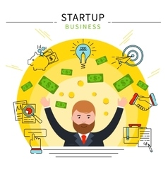 Startup business line concept vector