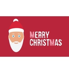 Merry christmas wish on red background card with vector