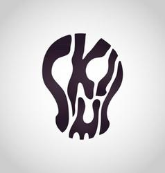 Abstract Skull Logo vector image