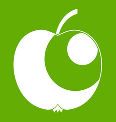 apple icon green vector image