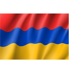 armenia national flag realistic vector image vector image
