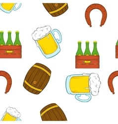 Barley drink pattern cartoon style vector image vector image