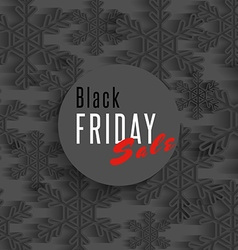 Black friday sale poster snowflakes and xmas vector