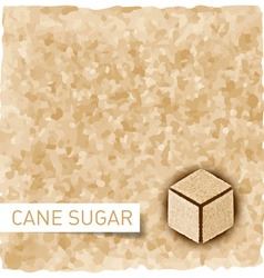 Brown sugar background vector