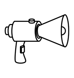 Bullhorn megaphone advert icon vector