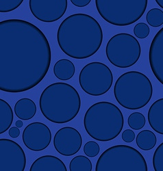 Dark blue background with round shapes seamless vector image
