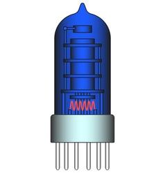 Electron tube vector image vector image