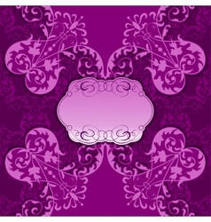 Elegant frame with lace and filigree ornament vector image vector image