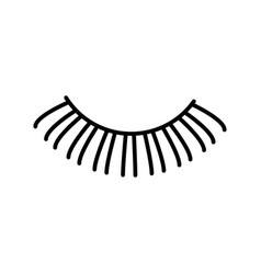 eyelashes line icon sign on vector image vector image