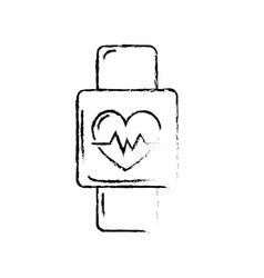 Figure smartwatch to know the rhythm cardiac vector