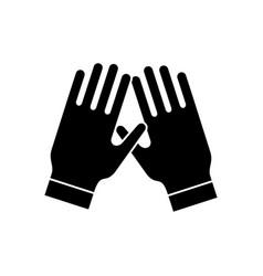 garden gloves icon black vector image vector image