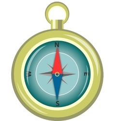 Glossy compass with windrose vector
