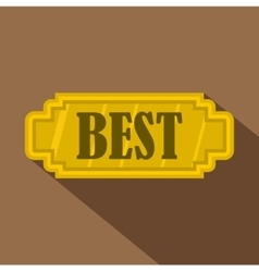 Golden best label icon flat style vector image vector image