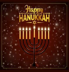 Happy hanukkah background cover card celebration vector