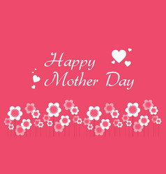 Happy mother day cute style background vector