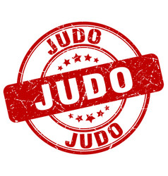 judo stamp vector image vector image