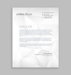 Letterhead design in paper style vector