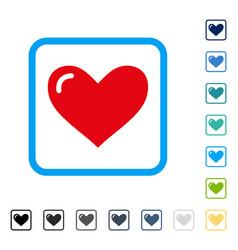 Love heart framed icon vector