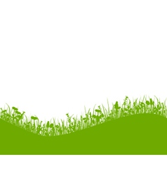 Meadow with hill vector