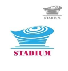 Modern blue stadium or arena icon vector