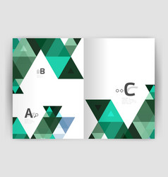 modern geometric annual report cover vector image
