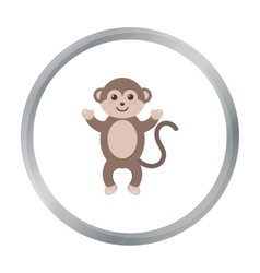 Monkey cartoon icon for web and vector image