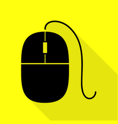 Mouse sign black icon with flat vector
