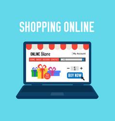 online store shopping online e-commerce shopping vector image vector image