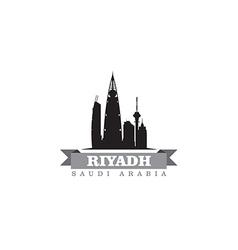 Riyadh Saudi Arabia city symbol silhouette vector image vector image