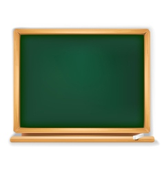school board with piece of chalk vector image vector image