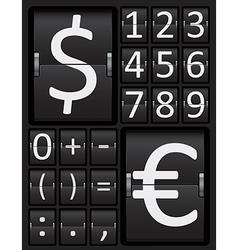 Scoreboard mechanical panel - numbers vector