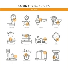 Set icons commercial weights vector