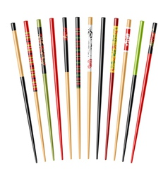 Set of chopsticks vector