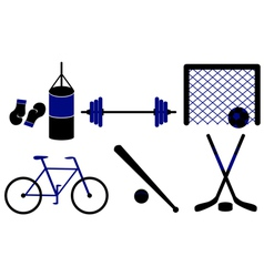 set of sporting equipment isolated vector image vector image