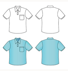 sleeve mans buttoned shirt vector image