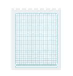 Square spiral notepad sheet element vector