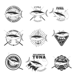 tuna fishing Design elements for fishing team vector image