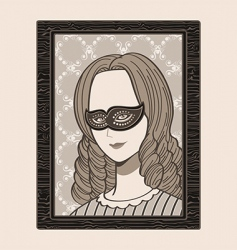 Victorian woman in mask vector image