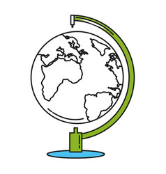 World planet earth school supply vector