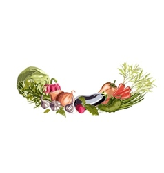 Vegetables decorative composition vector