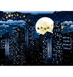 Santa Claus Coming to City3 vector image