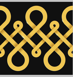 Endless golden loops abstract background vector