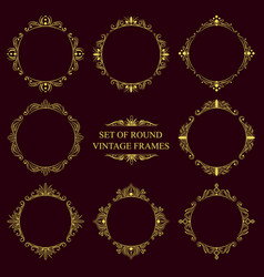 set of round classic vintage frames vector image