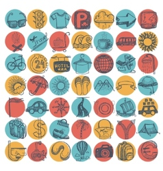 49 hand drawing doodle icon set travel theme vector