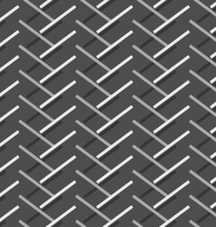Monochrome pattern with diagonal gray doubled vector