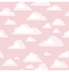 Sky with clouds seamless pattern vector