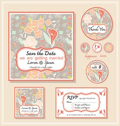 Save the date template series 1 vector