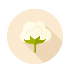 Cotton flat icon with long shadow vector
