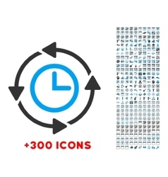 Wayback clock icon vector