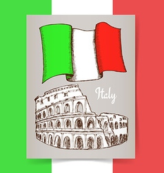 Sketch italian poster vector